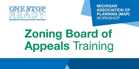 Zoning Board of Appeals Training tickets