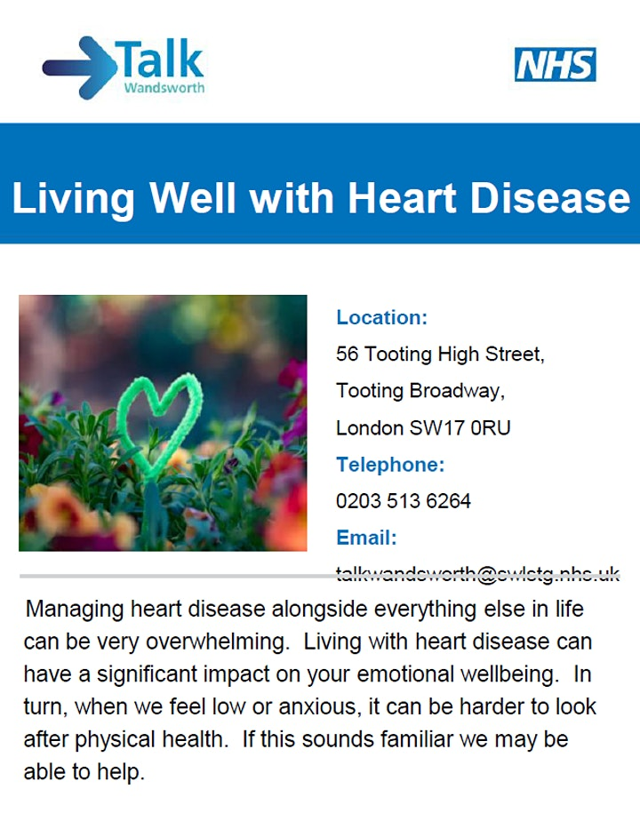 Living Well With Heart Disease - Online Group Workshop image