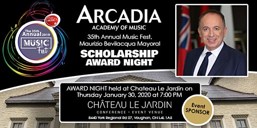 Arcadia Academy of Music Musicfest Scholarship Awards Gala