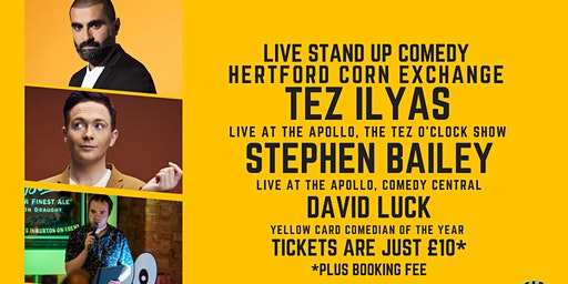 Live Stand up Comedy with Headliners Tez Ilays and Stephen Bailey