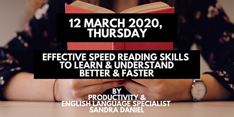 1-Day Effective Speed Reading Skills to Learn & Understand Better & Faster tickets
