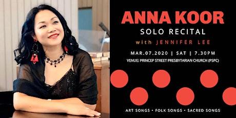Anna Koor Solo Recital 2020 tickets