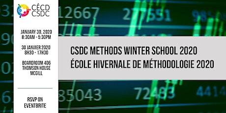 CSDC Methods Winter School 2020 tickets