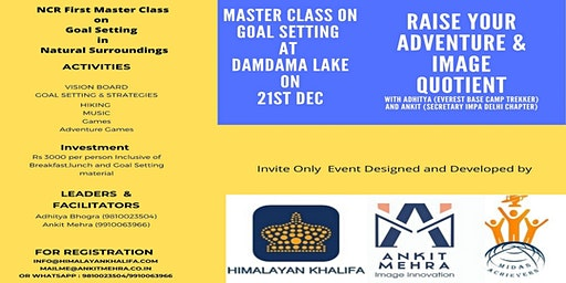 Master Class on Goal Setting ( 3000 Rupees Per Person)