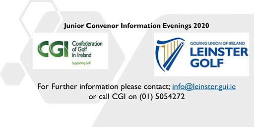 Leinster Golf & CGI Junior Convenor Evening- Delgany