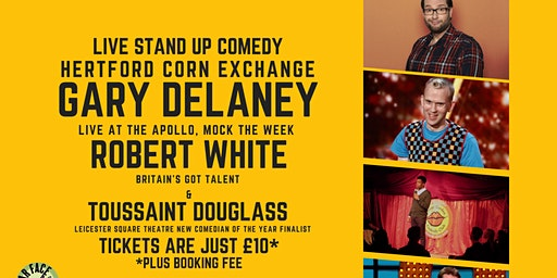 Live Stand up Comedy with Headliners Gary Delaney and Robert White