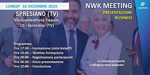 MEETING PRESENTAZIONE BUSINESS - NEWORKOM COMMUNITY - SPRESIANO (TV)