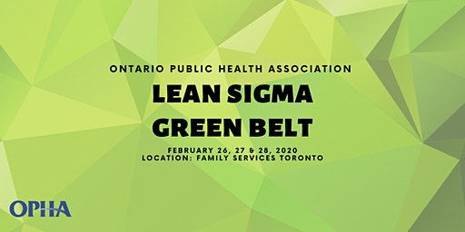 Lean Sigma Green Belt Training Workshop 2020