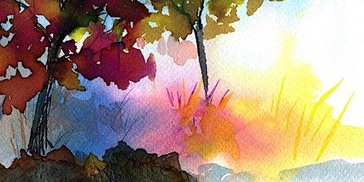 Liquid Watercolor Landscape