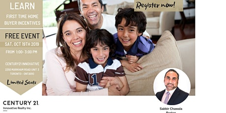First Time Home Buying Seminar - Government Incentives tickets