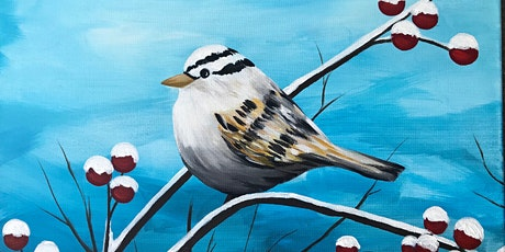 Winter Sparrow Paint Party at Brush & Cork tickets