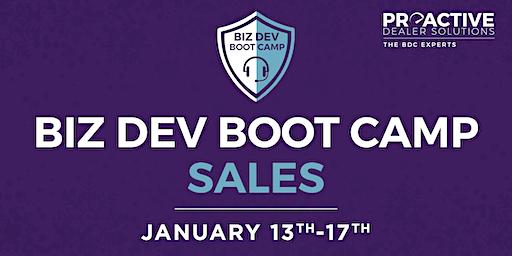 January - Biz Dev Boot Camp Sales