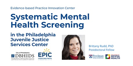 Lunch & Learn: Implementing and Evaluating Mental Health Screening in PJJSC tickets