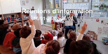 L'Autre Ecole- Réunion d'information billets