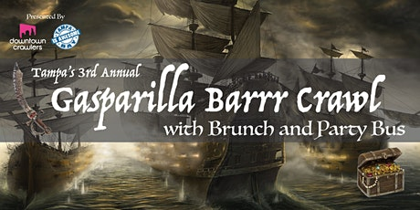 3rd Annual Gasparilla Barrr Crawl with BRUNCH, BLOCK PARTY & PARTY BUS tickets