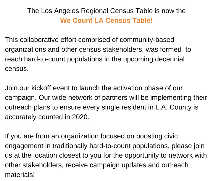 We Count LA Census Table Meeting image