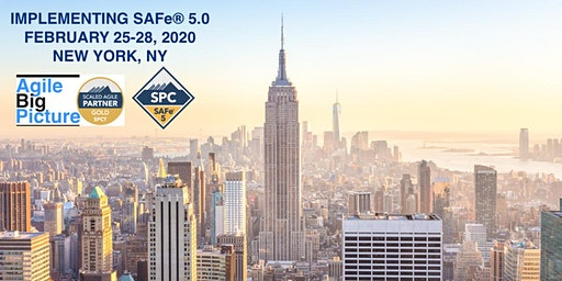 NYC - Implementing SAFe® 5.0 with SPC Cert *GUARANTEED TO RUN*