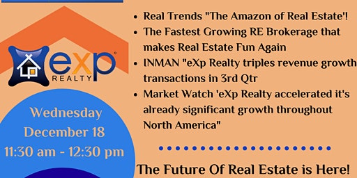 Lunch and Learn with eXp Realty LLC - Wednesday Dec 18th