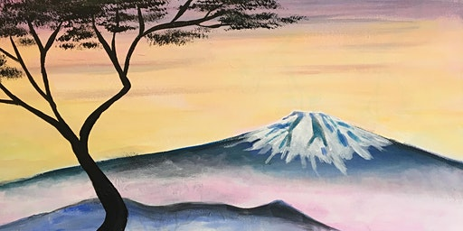 Paint Party Event - 'Majestic Fuji' The Windmill, Orton Waterville