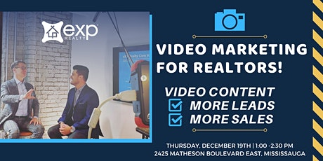VIDEO MARKETING for REALTORS! | A Blueprint For More LEADS + More CLOSINGS tickets