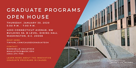 CAUSES Graduate Programs Open House tickets