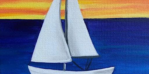 Kids & Grown-Ups Sailboat Paint Party at Brush & Cork