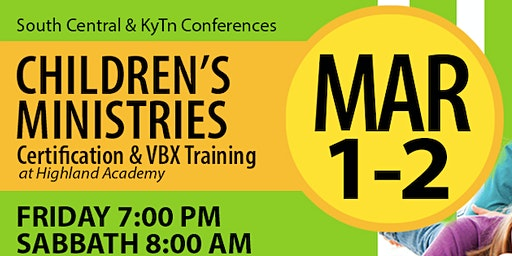 Children's Ministries Certification and VBX Training