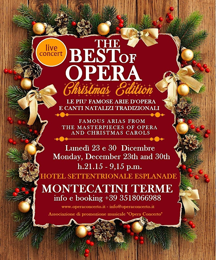 Immagine THE BEST OF OPERA - CHRISTMAS EDITION