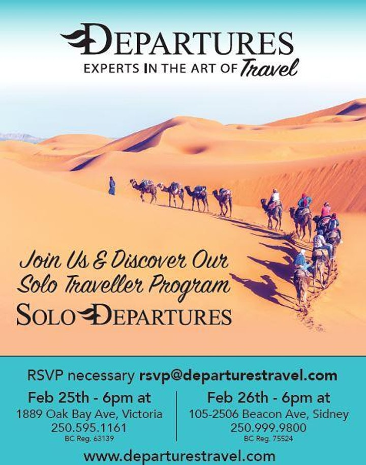 Solo Departures Information Session - Sidney image