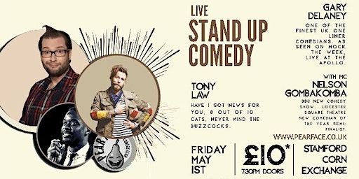 Live Stand up Comedy with Headliners Gary Delaney and Tony Law