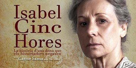 ISABEL CINC HORES  Teatre Aquitània Barcelona  Diumenge 12/01/2020 entradas