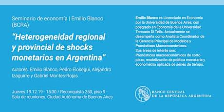 Seminario de Economía | Emilio Blanco (BCRA) entradas