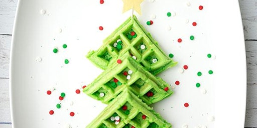 Holiday Waffle Party and cookie decorating