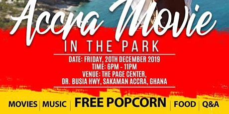 Accra Movie In The Park tickets