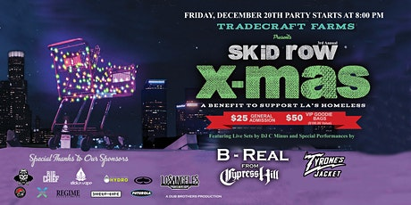 Skid Row Xmas A Benefit Concert Feat. B Real of Cypress Hill, Tyrone's Jacket and C-MINUS tickets