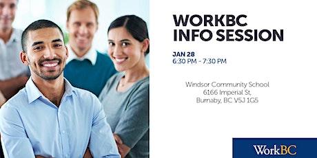 WorkBC Info Session - Windsor Community School tickets