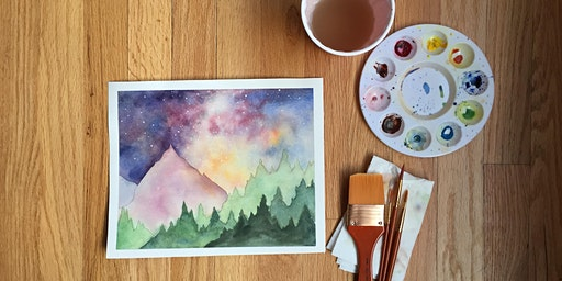 Watercolors Made Easy: Milky Way Mountains