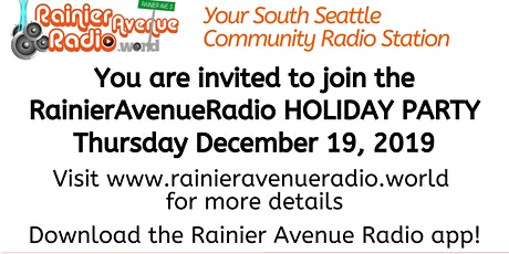 RainierAvenueRadio.World Holiday Party 2019! tickets