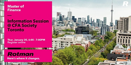 Master of Finance Evening Information Session @ The CFA Society tickets