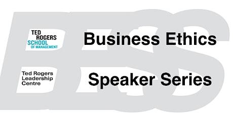 Business Ethics Speaker Series: Etye Steinberg tickets