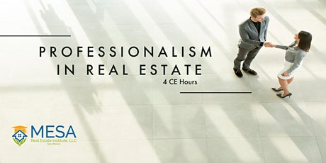 Professionalism in Real Estate tickets