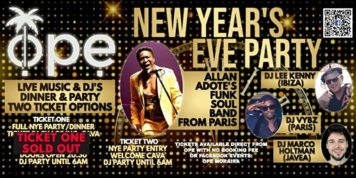 New Years Eve @ Ope Moraira