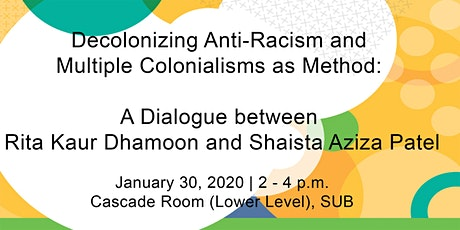 Decolonizing Anti-Racism and Multiple Colonialisms as Method: A Dialogue between Rita Kaur Dhamoon and Shaista Aziza Patel tickets