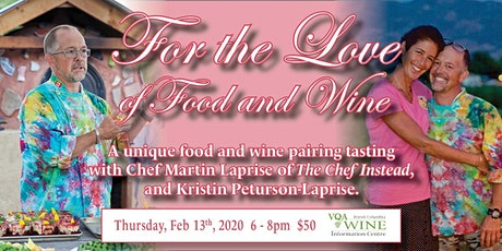 For the Love of Food and Wine tickets