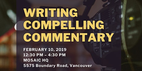 Writing Compelling Commentary with Shari Graydon (Informed Opinions) tickets