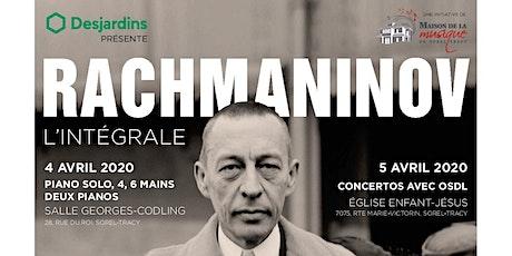 Le piano de Rachmaninov : l'intégrale billets