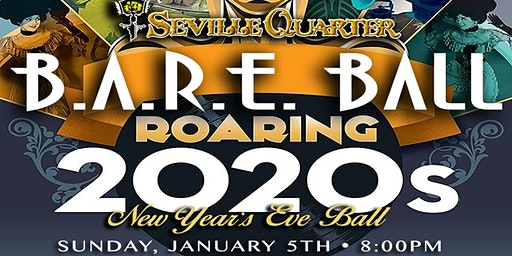 Seville Quarter's 2020 New Year's B.A.R.E Ball