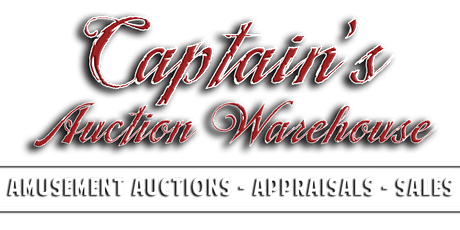 YO HO HO MERRY AUCTION! :  CAPTAIN'S AUCTION WAREHOUSE's  DEC. 14 PINBALL and ARCADE GAME AUCTION tickets