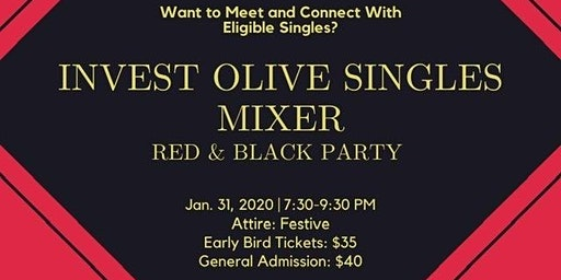 Invest Olive Singles Mixer: The Red and Black Party