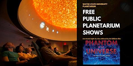 April 3 7:00 Planetarium Show tickets
